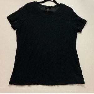 Lane Bryant Black Lace Short Sleeve Tee